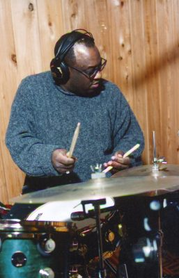 Carl Allen, recording drums for Arkadia Records